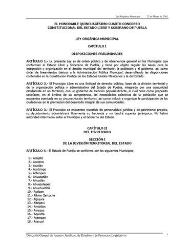 LEY ORGÁNICA MUNICIPAL by Medio de SanJeronimo - issuu