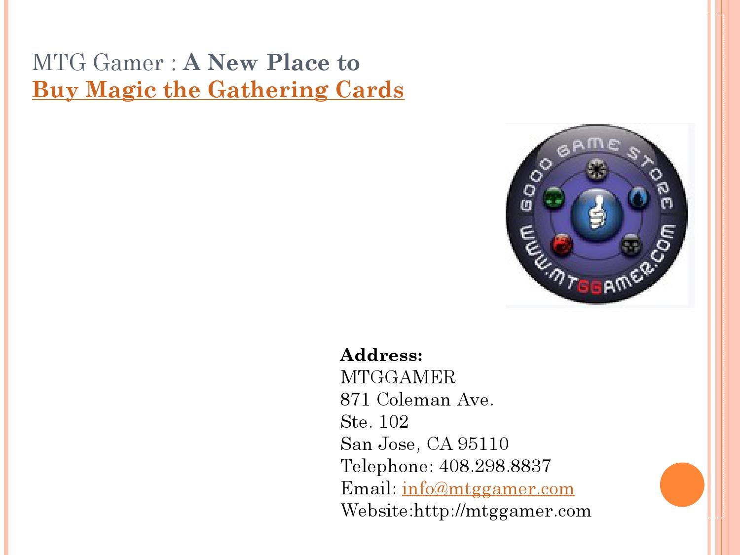 MTG Gamer: A New Place to Buy Magic the Gathering Cards by