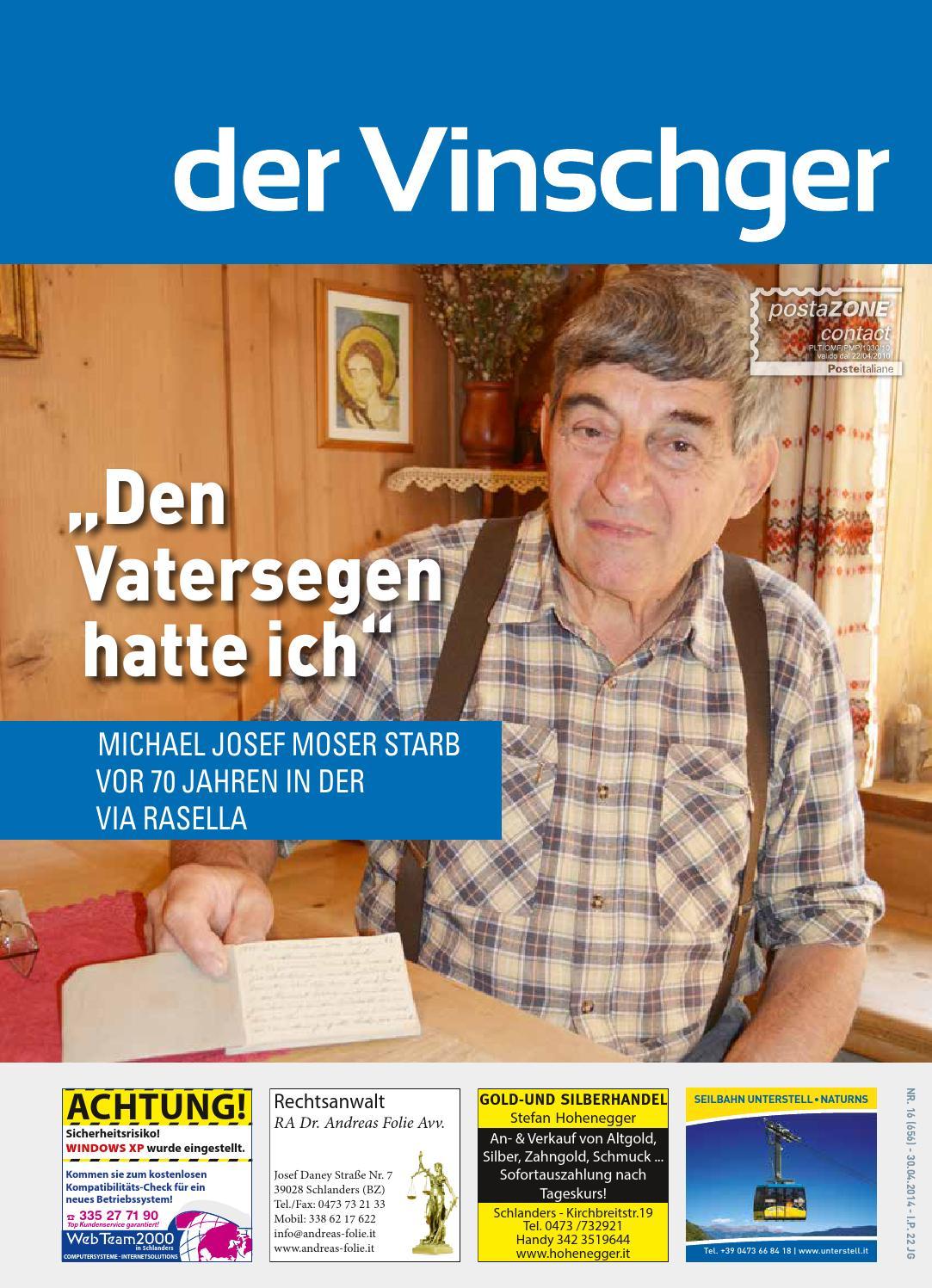Vinschger Nr. 16 vom 30.04.2014 by Der Vinschger - issuu