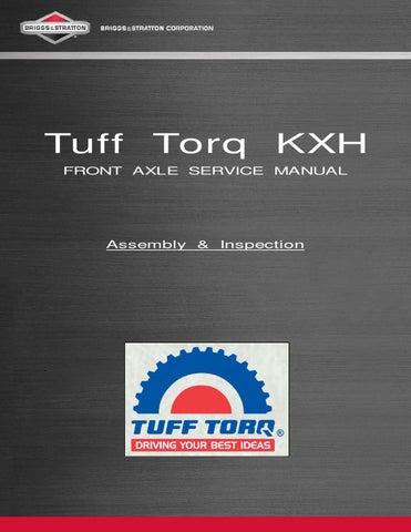 tuff torq k57 service manual