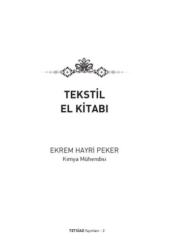 Tekstil El Kitabi By Tetsiad Issuu