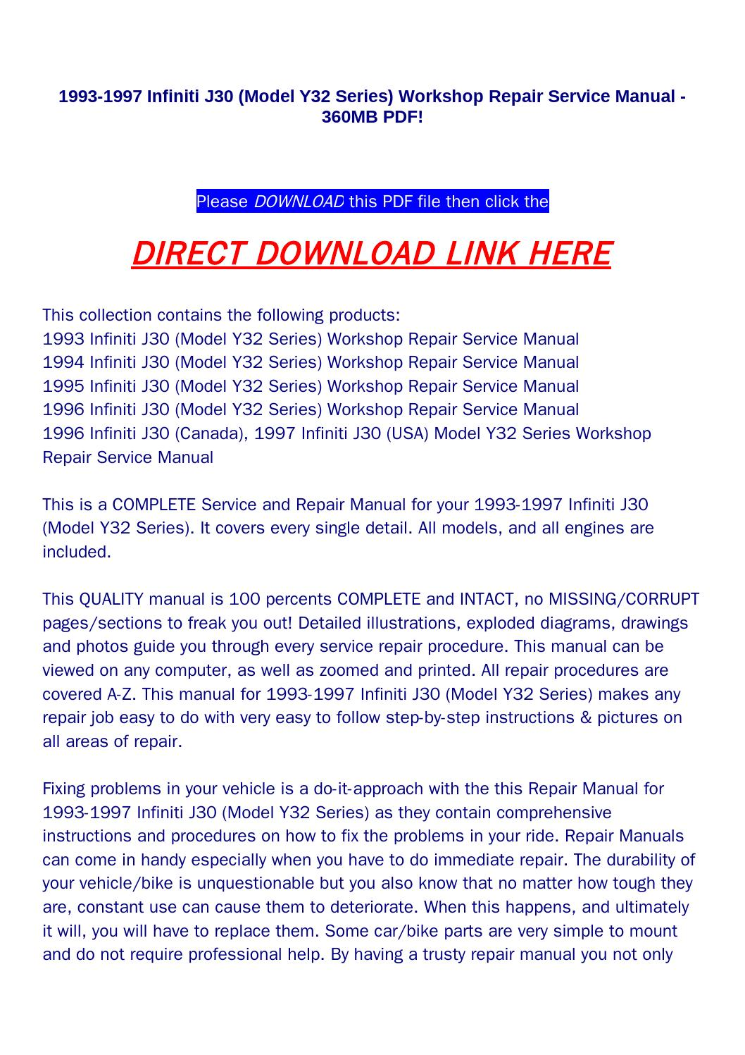 1993 1997 infiniti j30 (model y32 series) workshop repair service manual  360mb pdf! by wsds@qualityservicemanual.com - issuu