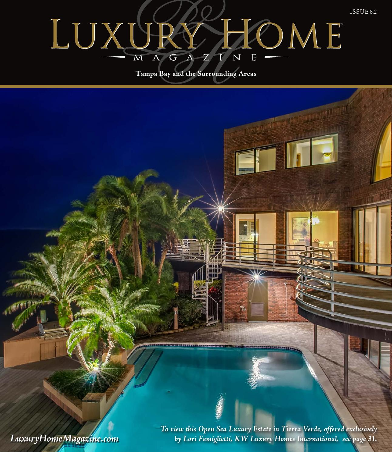 Mansion Luxury Pools With Waterfalls: Luxury Home Magazine Tampa Issue 8.2 By Luxury Home