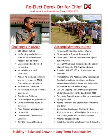 Election Brochure By Chief Derek Orr  Issuu