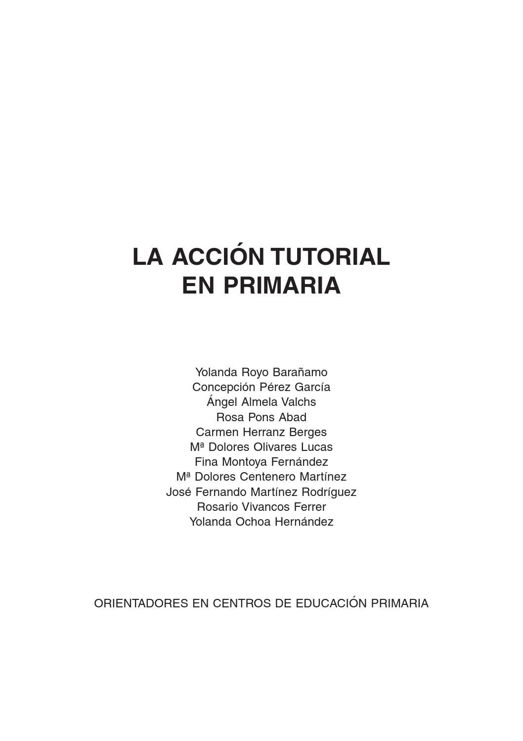 La acción tutorial by Mariano Hurtado Riquelme - issuu