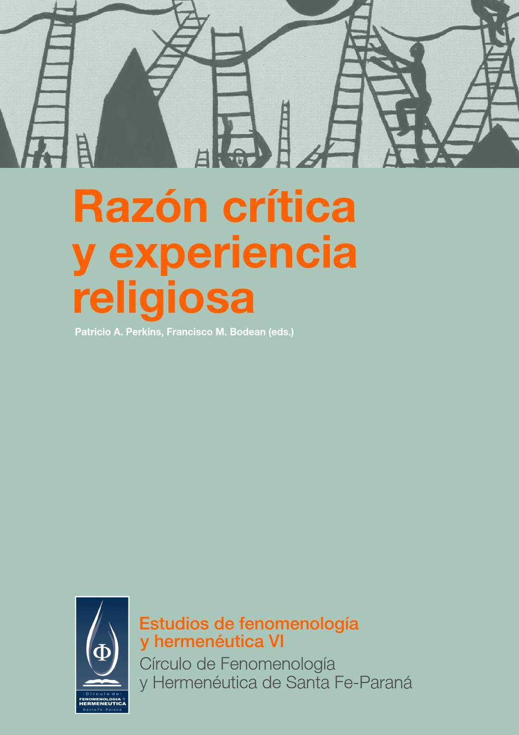 Razón crítica y experiencia religiosa by Círculo de Fenomenología y ...