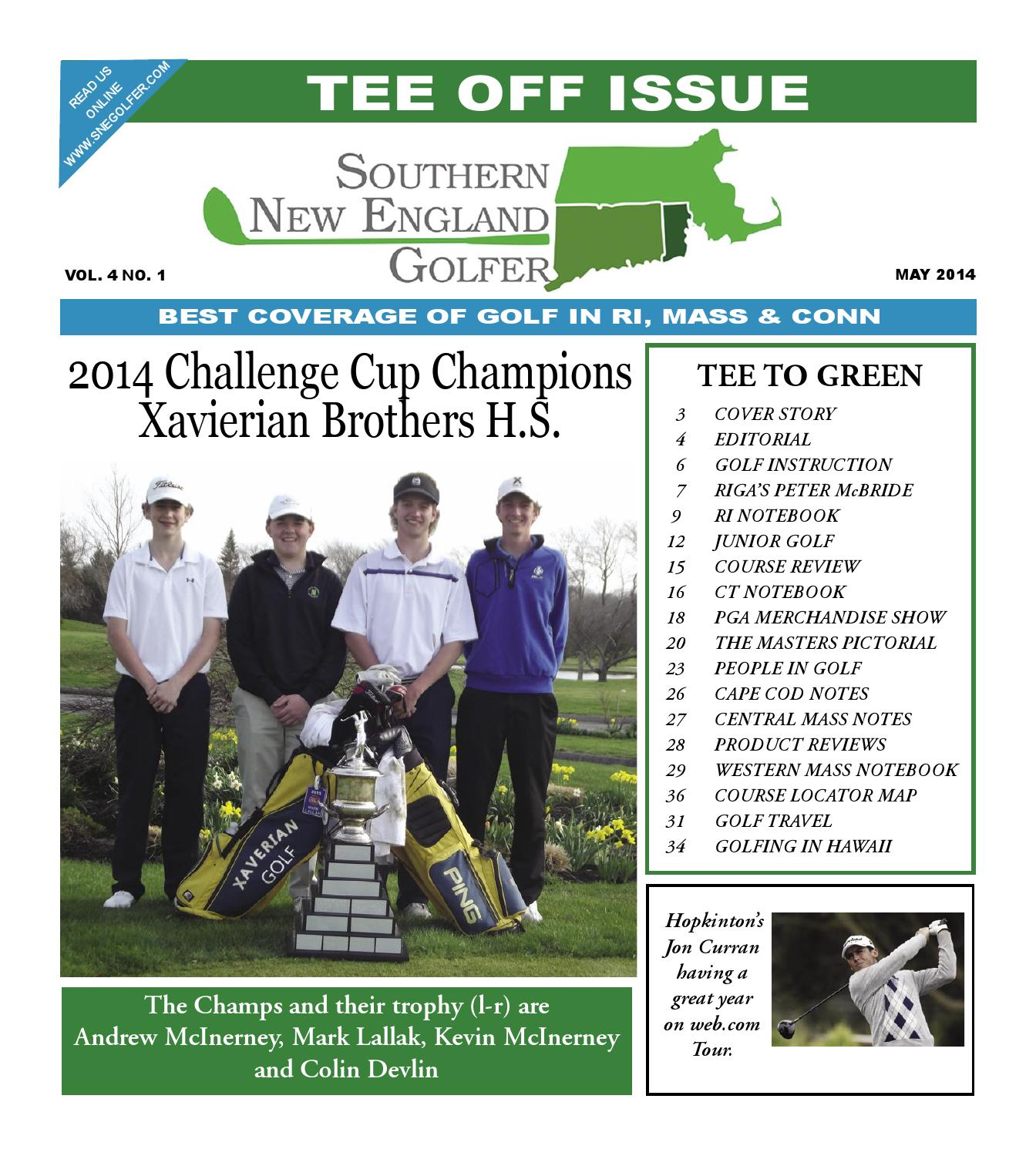 Southern New England Golfer May 2014 by Southern New England