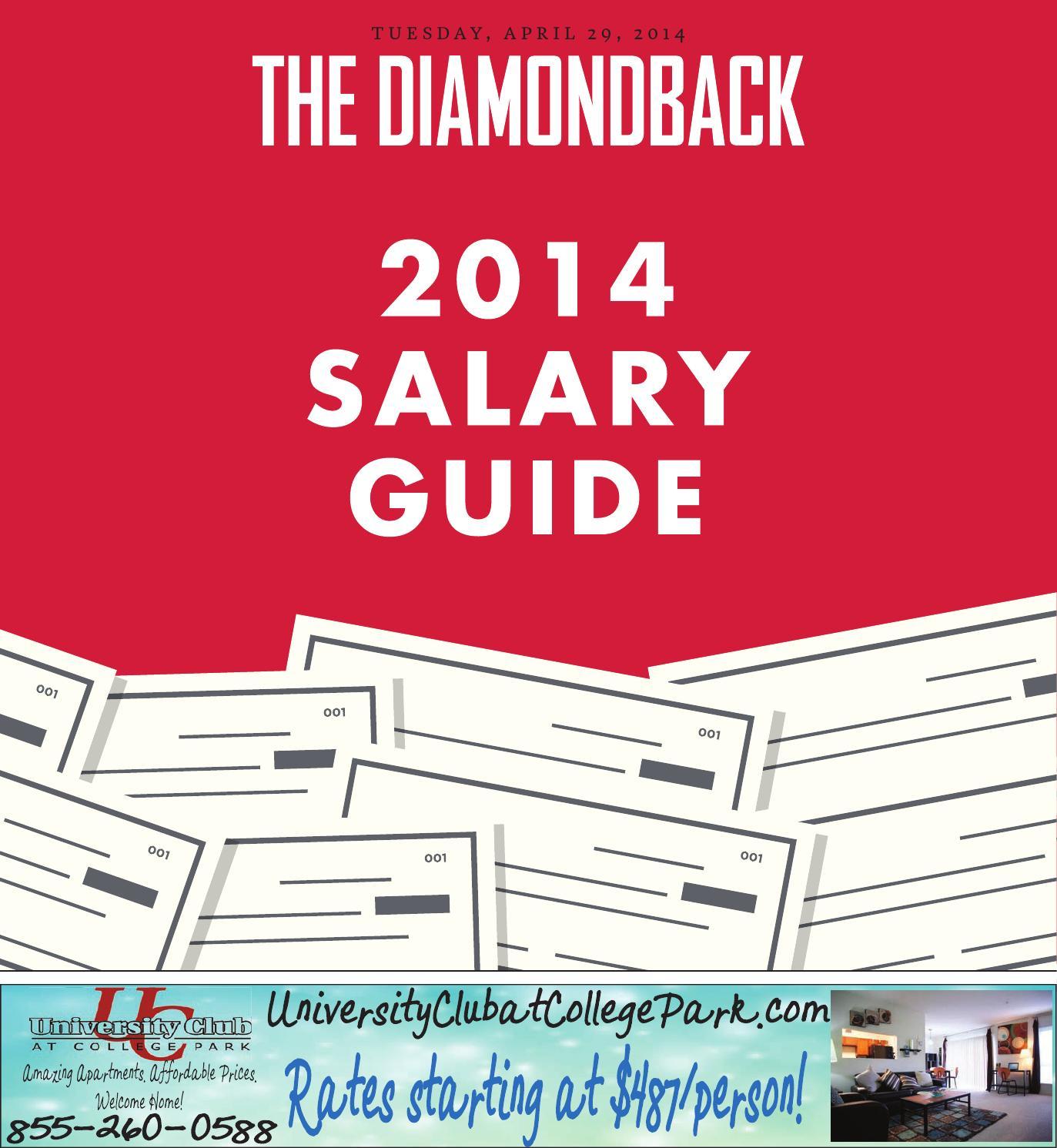 2014 Diamondback Salary Guide by The Diamondback - issuu