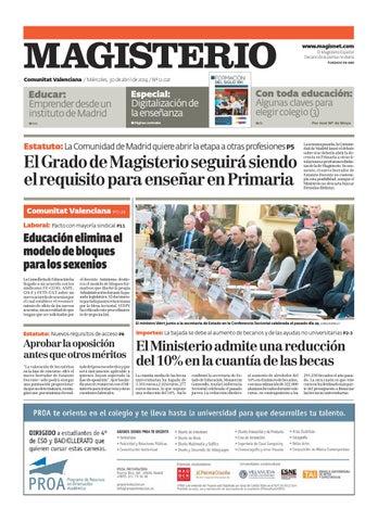 Magisterio Nº 12021 Edición Com. Valenciana by Grupo Siena - issuu