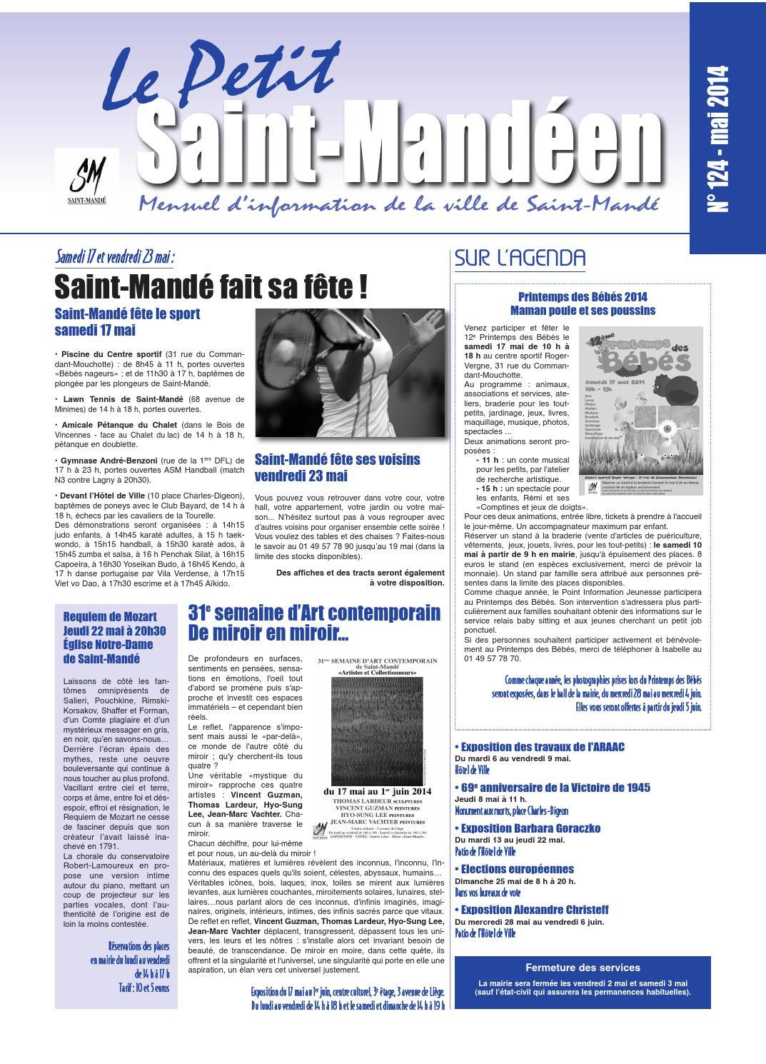 Le petit saint mand en mai 2014 by mairie de saint mand for Piscine saint mande