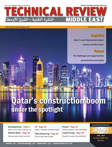 Technical Review Middle East 3 2014 by Alain Charles Publishing - issuu