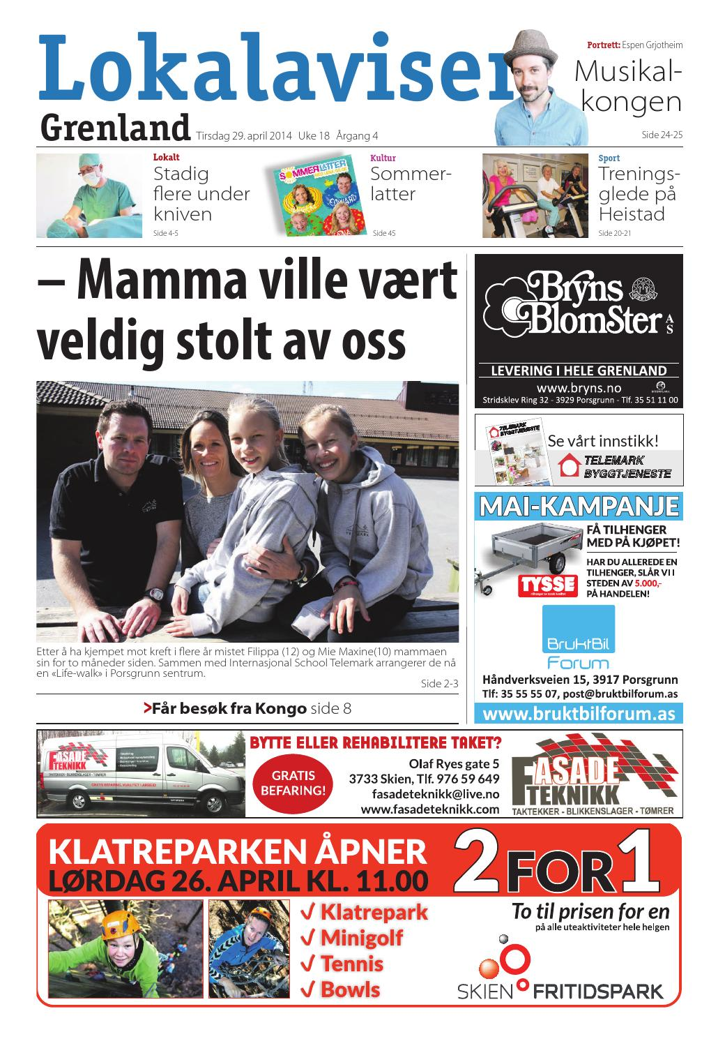3cbbb305 Lokalavisengrenland uke18 2014 by Tvende Media AS - issuu