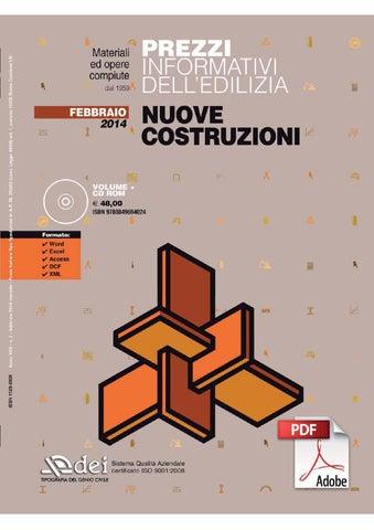 Prezzario nuove costruzioni febbraio 2014 by dei tipografia del ...
