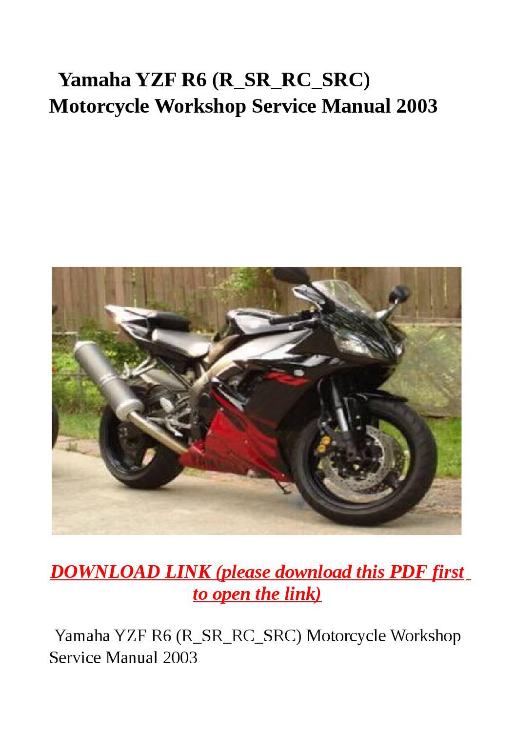 Yamaha workshop manuals for download free