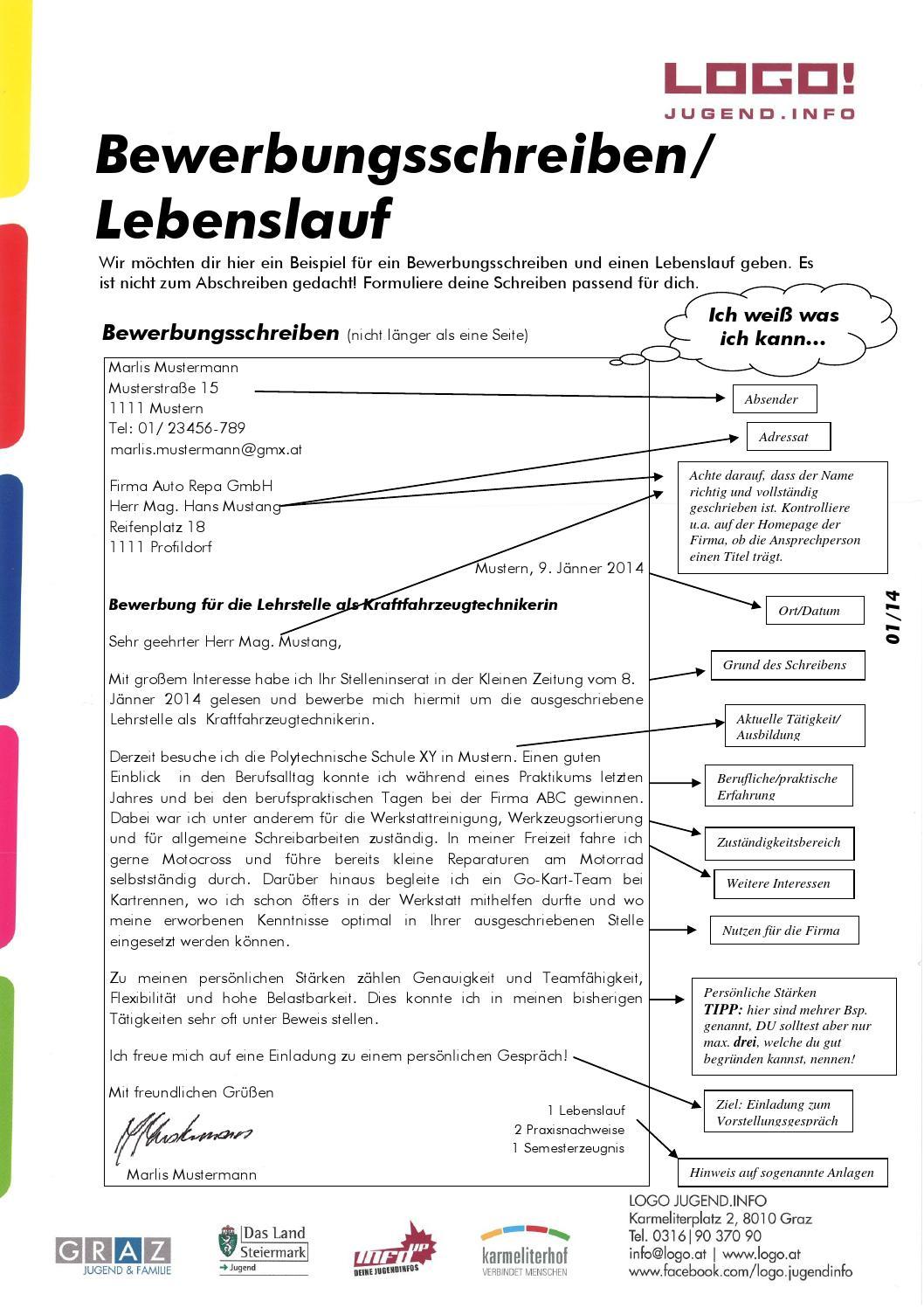 Arbeit ib bewerbungsschreiben lebenslauf 01 14 by LOGO - issuu