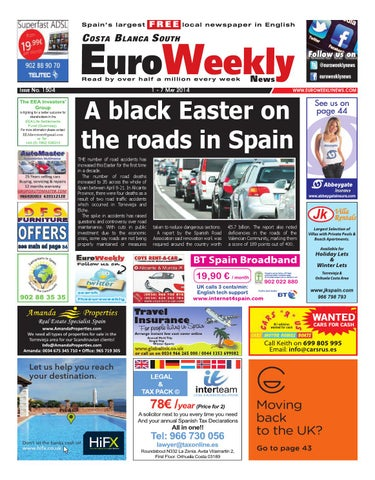 Euro Weekly News - Costa Blanca South 1 - 7 May 2014 Issue 1504 by ... 32842e337242e