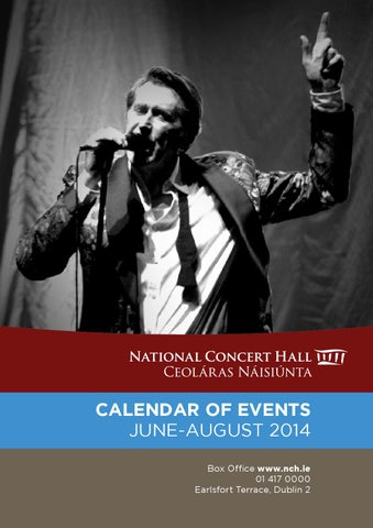 NCH Calendar of Events (June - August 2014) by National Concert Hall ... 630a23630da9