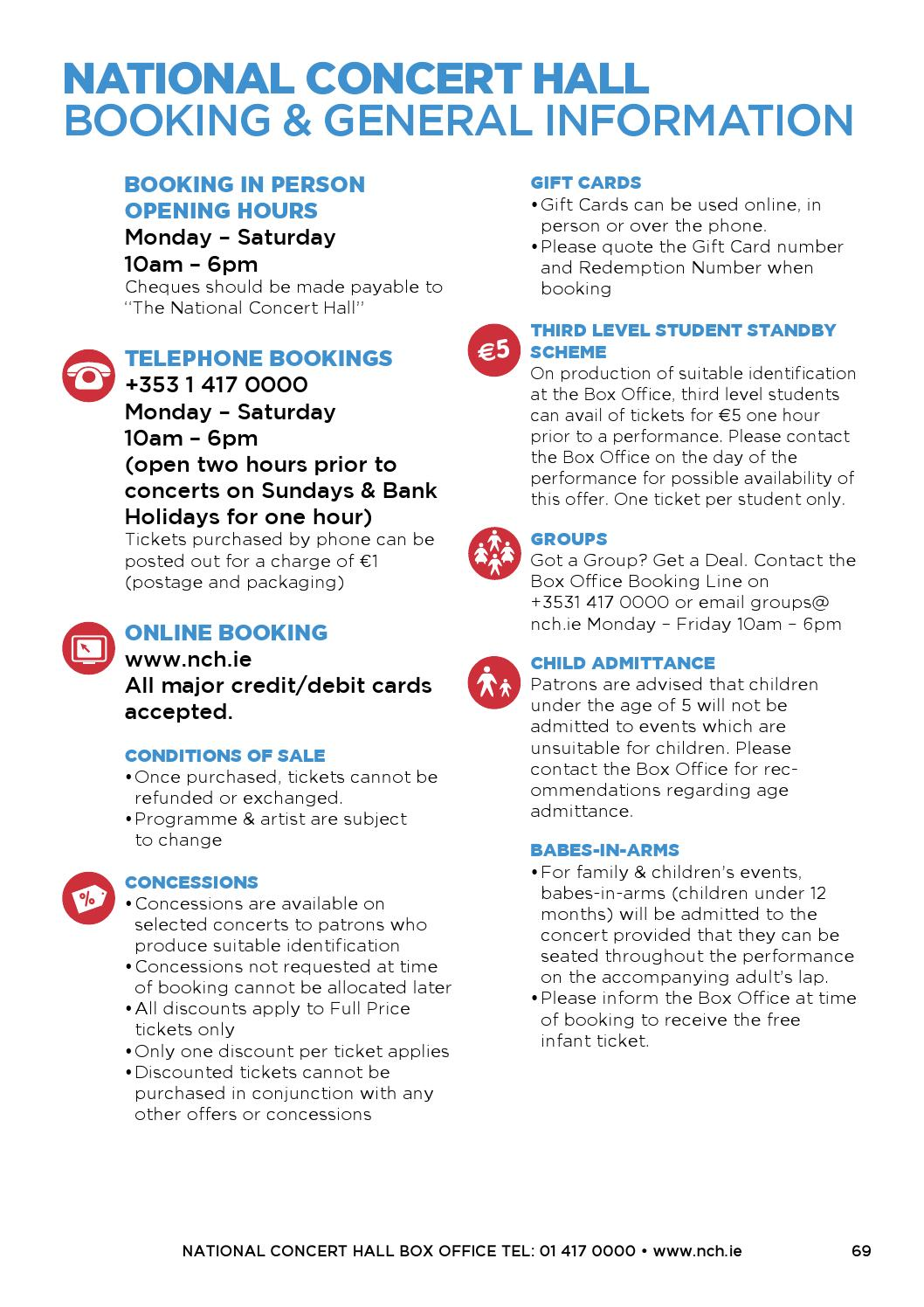 NCH Calendar of Events (June - August 2014) by National