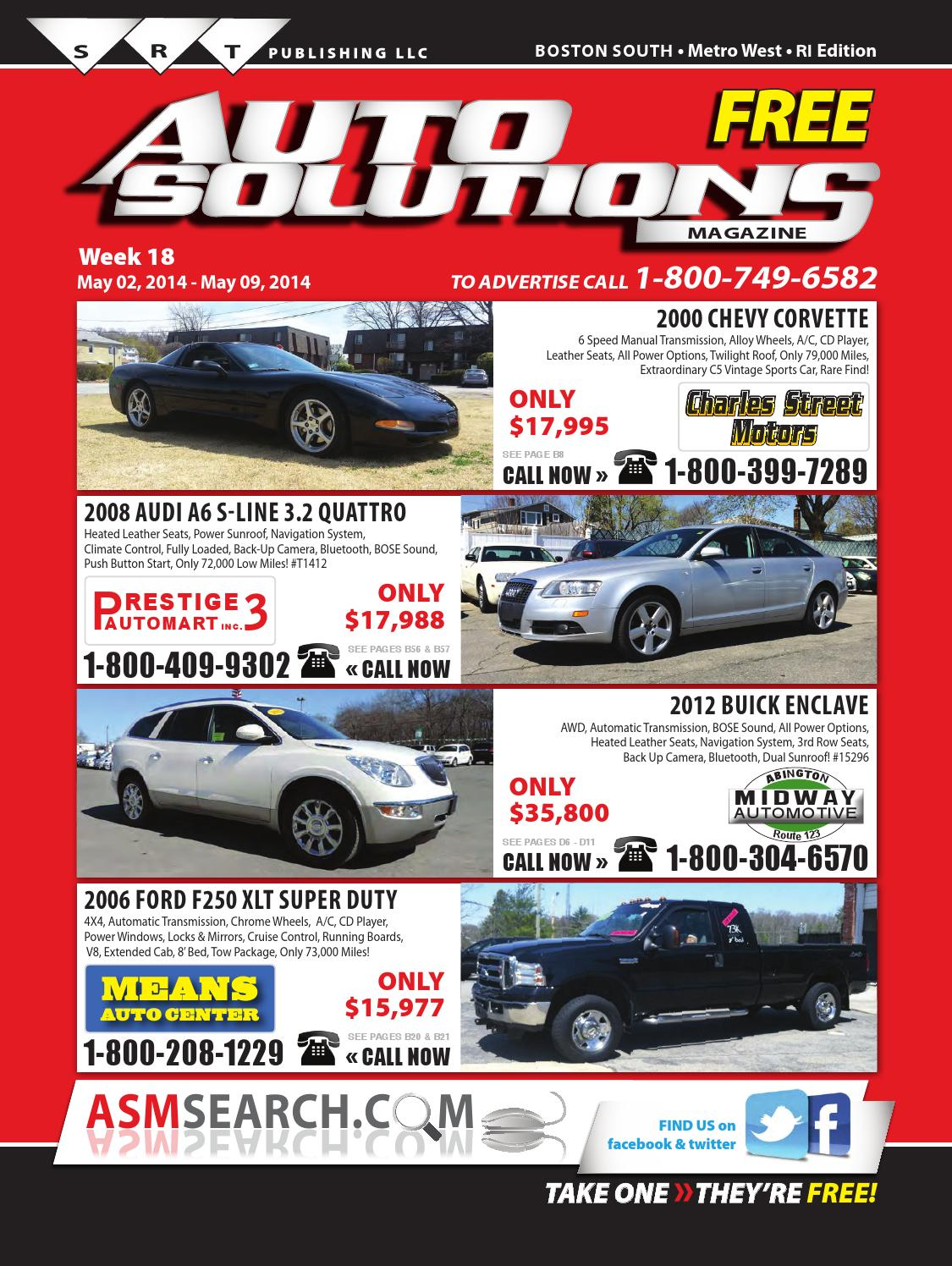 Week 18 (South Book) by Auto Solutions Magazine - issuu