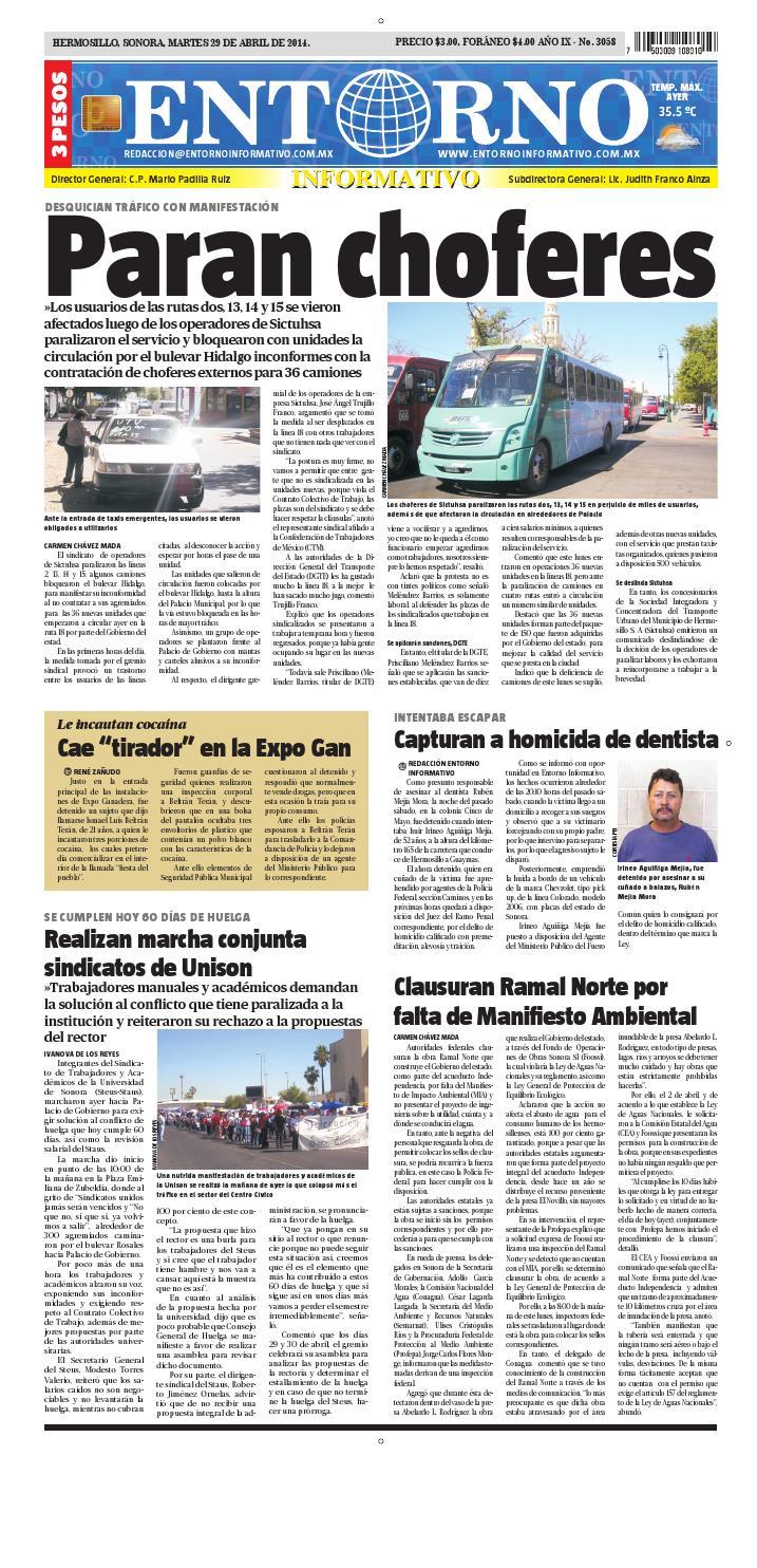29 de abril del 2014 by Entorno Informativo hermosillo - issuu