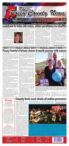 april 29 2014 the posey county news by the posey county news issuu