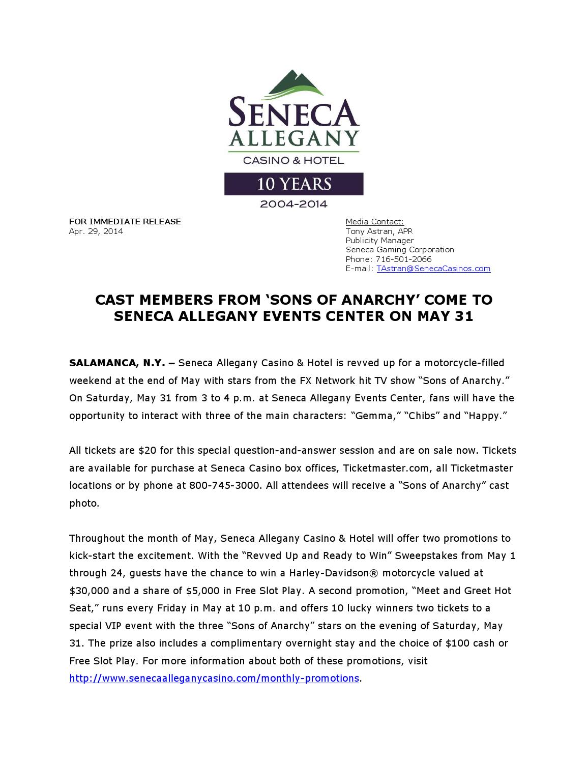 Cast members from sons of anarchy come to seneca allegany events cast members from sons of anarchy come to seneca allegany events center on may 31 by seneca casinos issuu kristyandbryce Choice Image