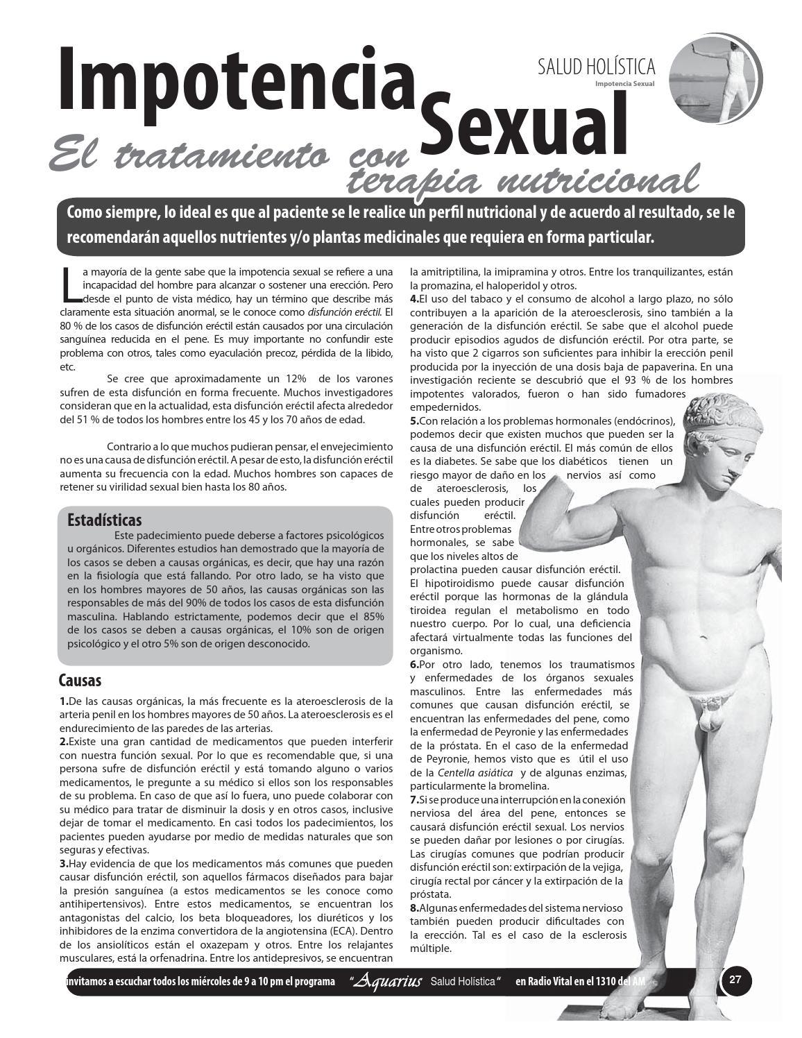 haloperidol y disfunción eréctil