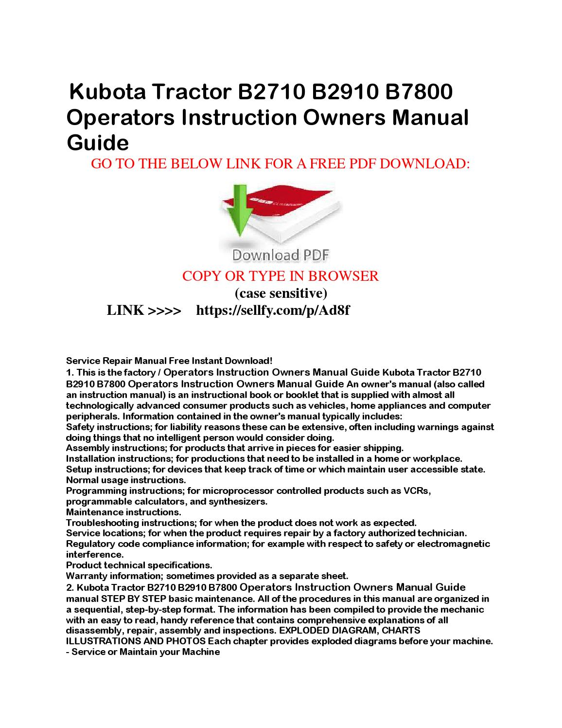 Kubota L35 Owner Manual Wiring Diagram B26 Tlb Bx2200 Owners Free Array Operators Download Rh Aplacetonest Com