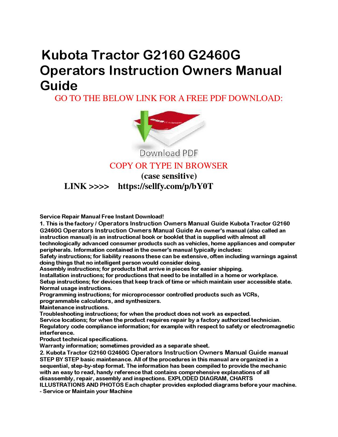 Lawn Tractor Manual Guide