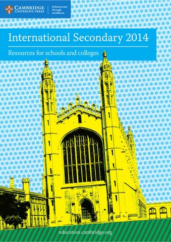 International secondary catalogue 2014 cambridge university press page 1 fandeluxe
