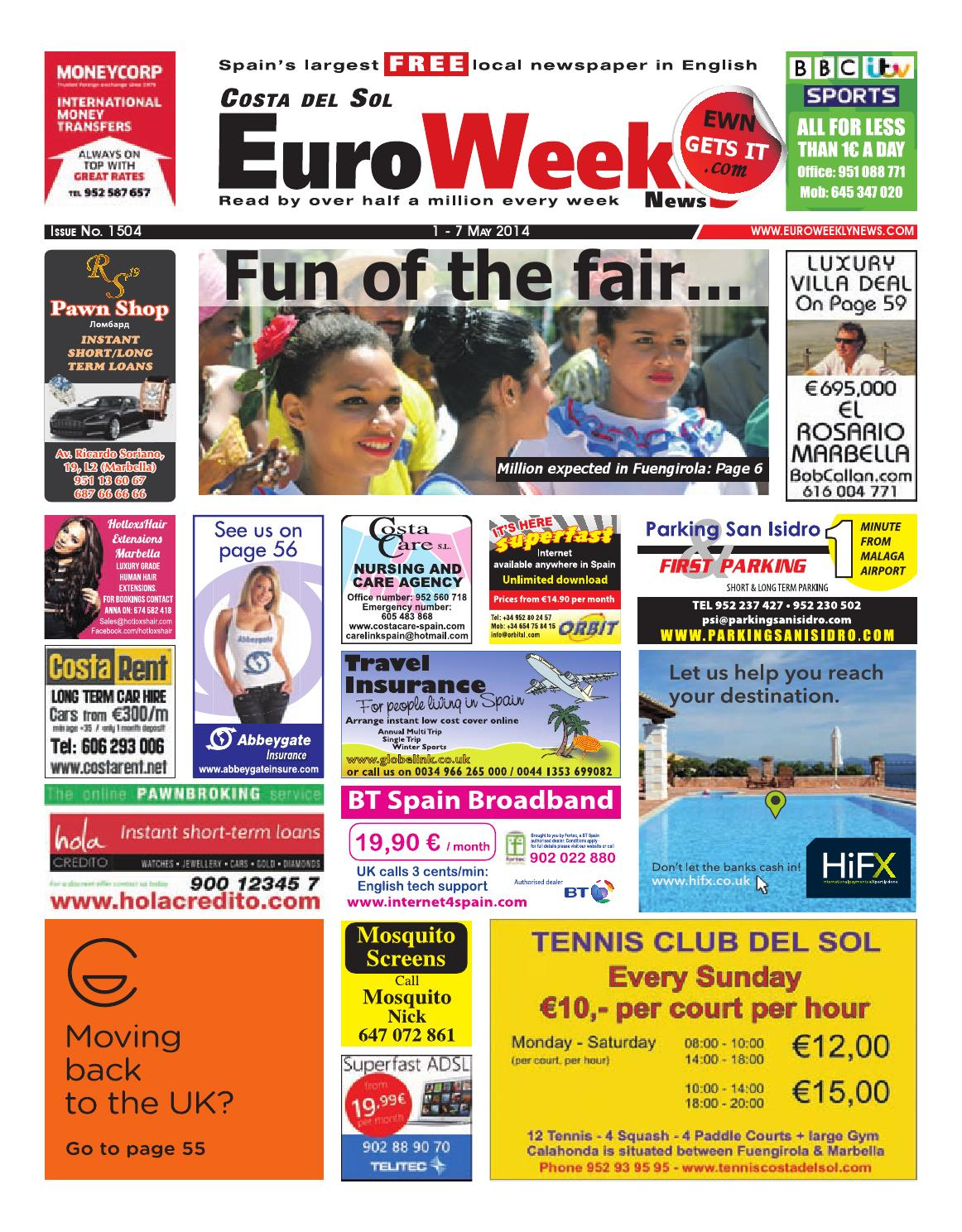 Euro Weekly News - Costa del Sol 1 - 7 May 2014 Issue 1504 by Euro Weekly  News Media S.A. - issuu 427cc9e0cf