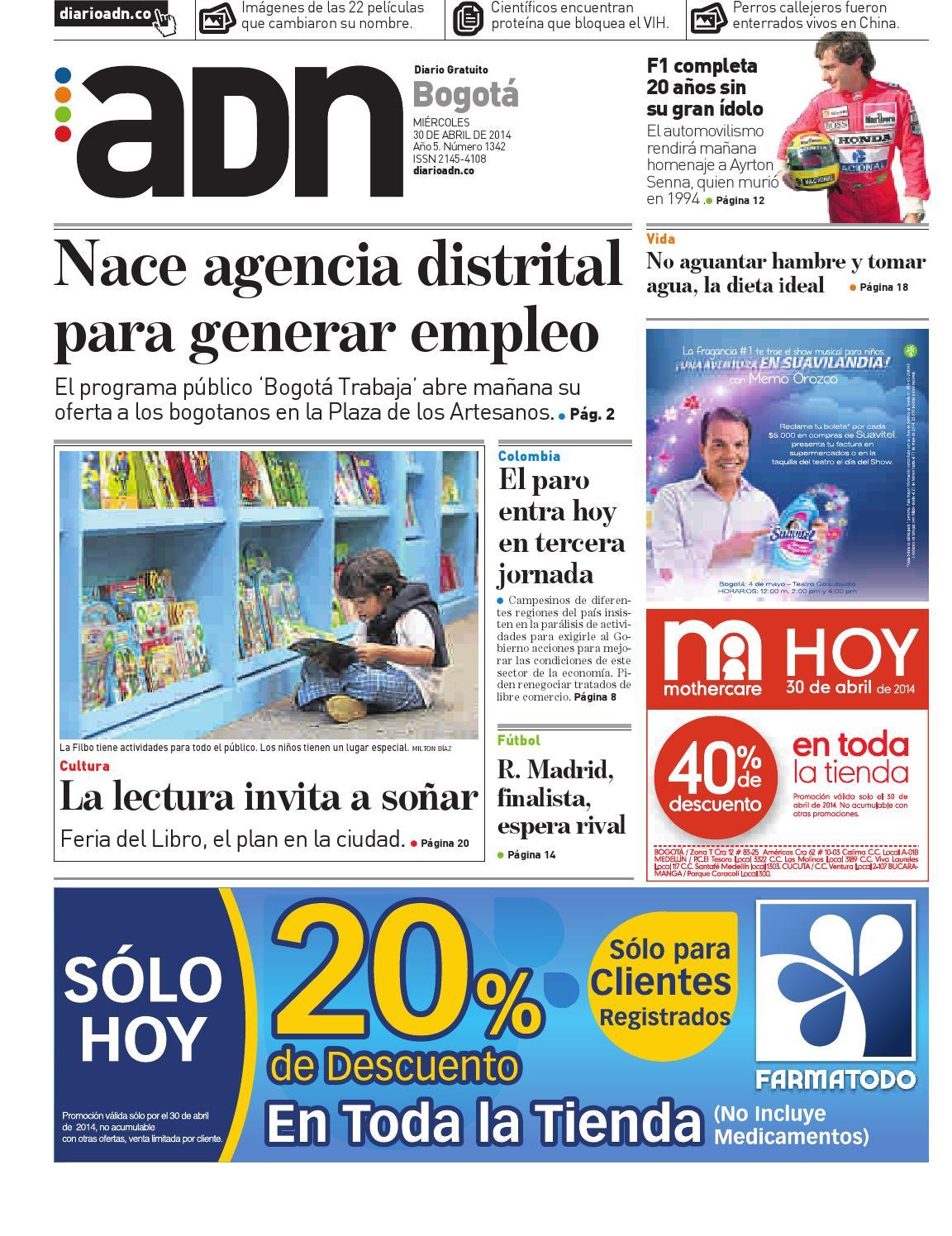 30 de abril Bogotá by Diario ADN - issuu