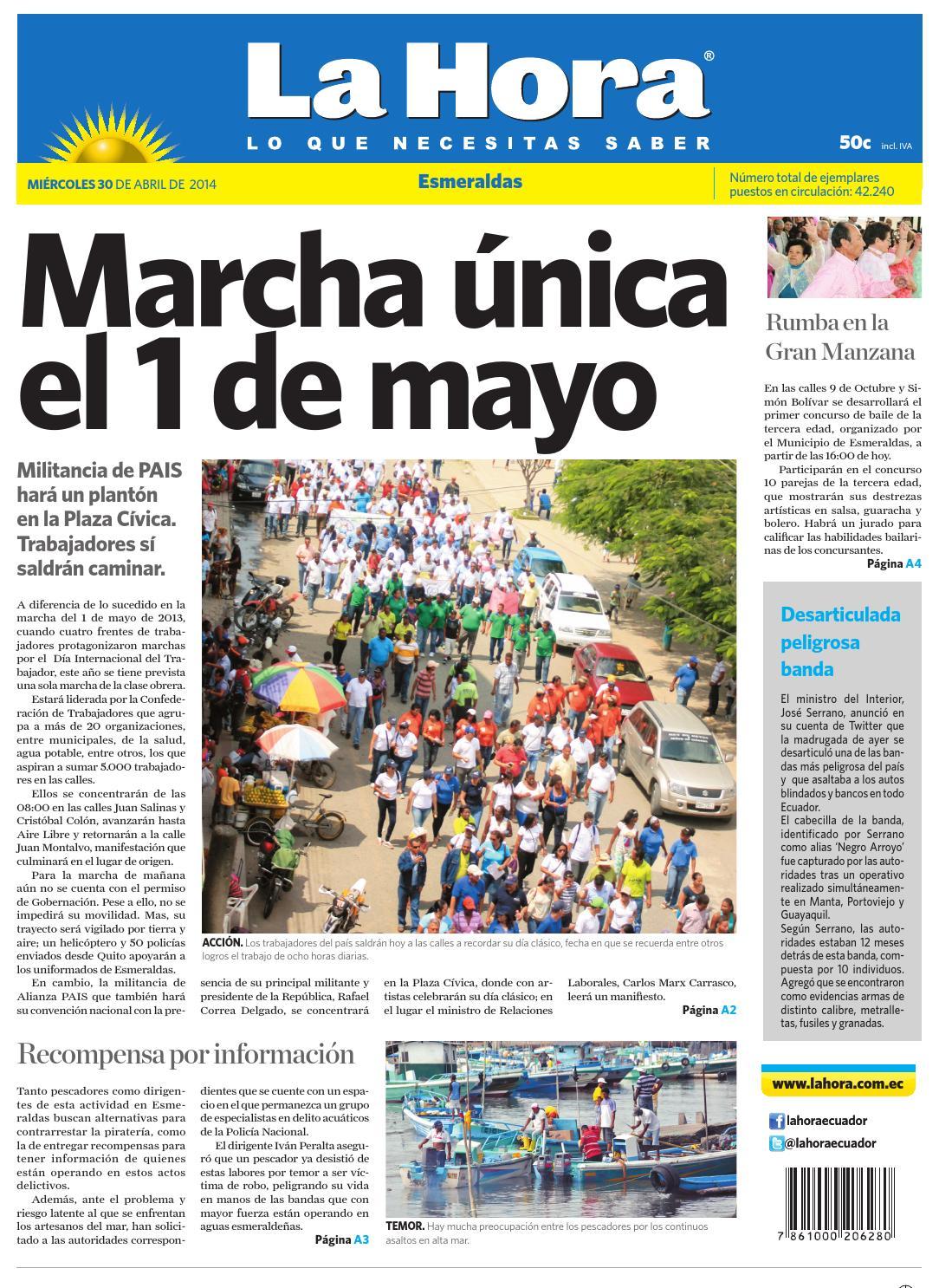 Esmeraldas 30 abril 2014 by Diario La Hora Ecuador - issuu