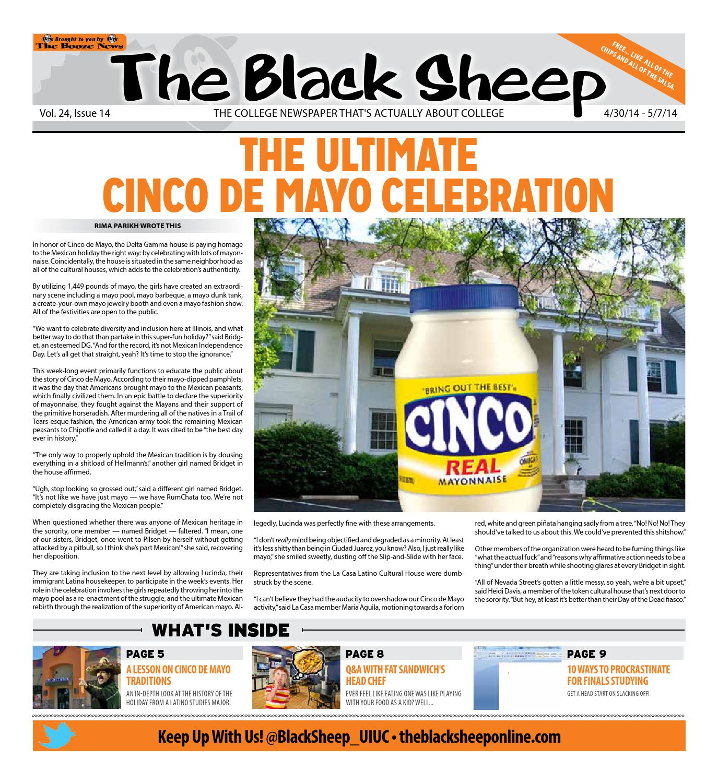 00187e6e8b031 Illinois - Issue 14 - 5 1 2014 by The Black Sheep - issuu