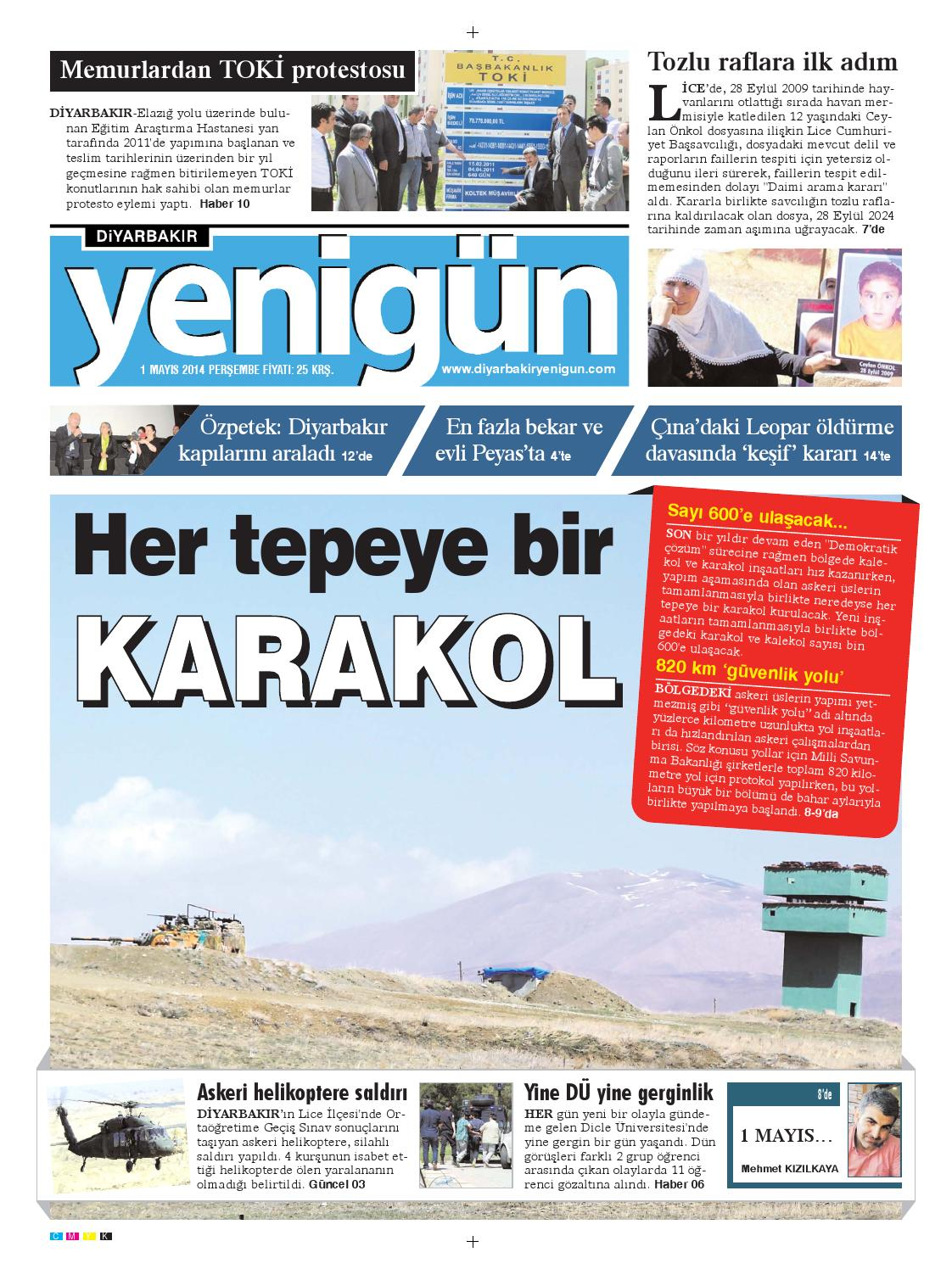 Diyarbakir Yenigun Gazetesi 1 Mayis 2014 By Osman Ergun Issuu