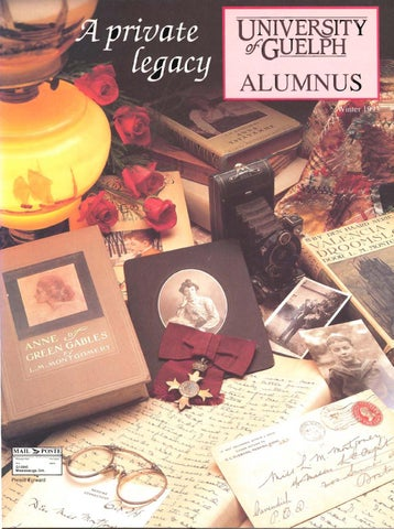 Guelph Alumnus Magazine Winter 1993 By University Of Guelph Issuu