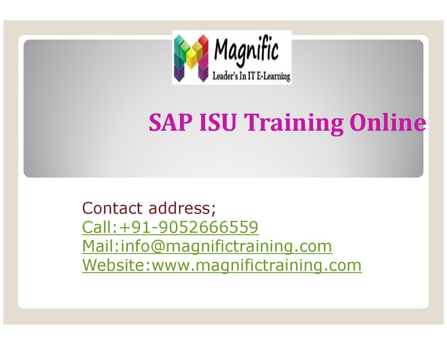 Sap isu training online by magnificks - issuu