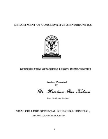 Work length in endodontics 8/ dental implant courses by Indian