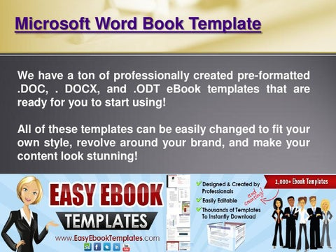 Microsoft word book template by microsoft word book template issuu microsoft word book template we have a ton of professionally created pre formatted c docx and odt ebook templates that are ready for you to start maxwellsz