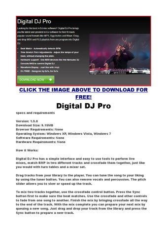 The best free dj software digital dj pro match bmp in two different