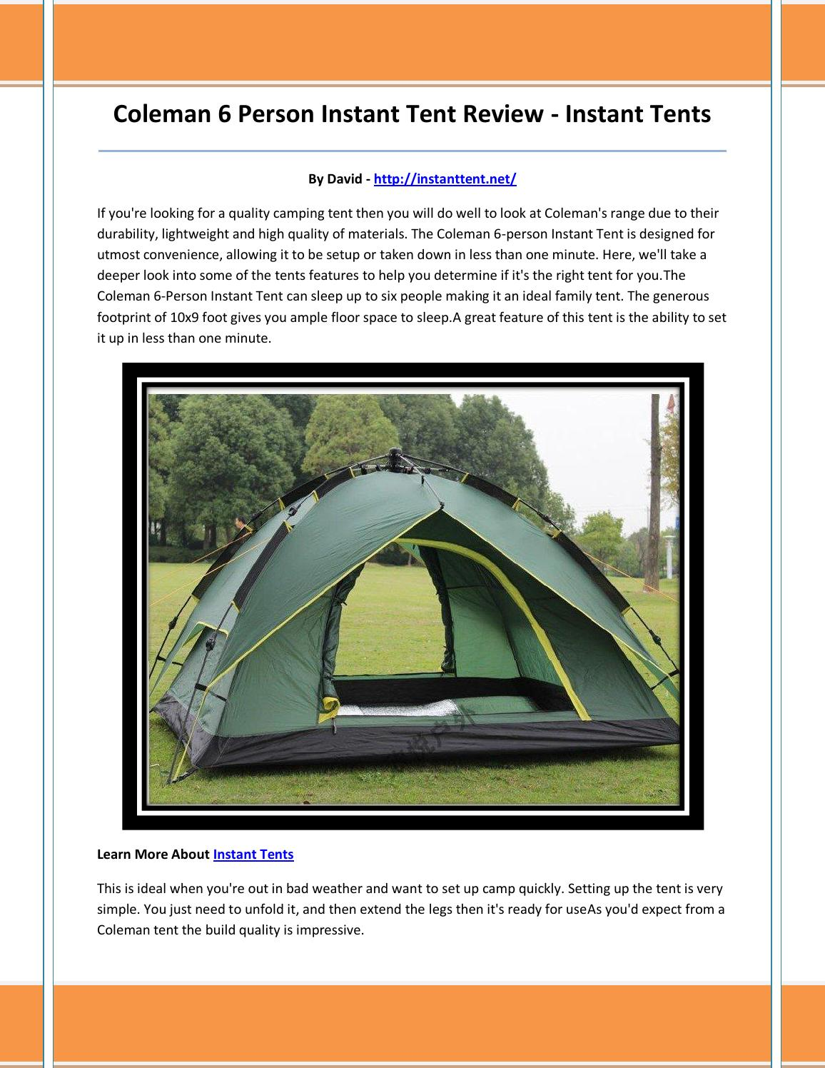 Instant tents by mkklo - issuu