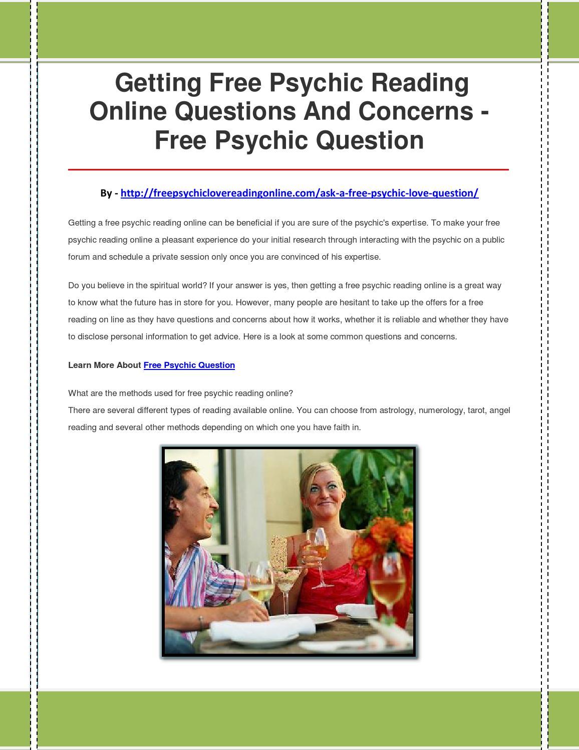 Free psychic question by freepsychicquestion85 - issuu