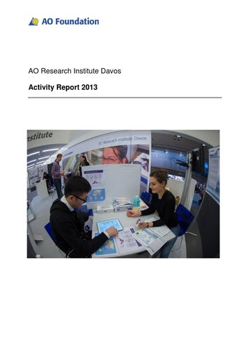 ari activity report 2013 by ao foundation issuu