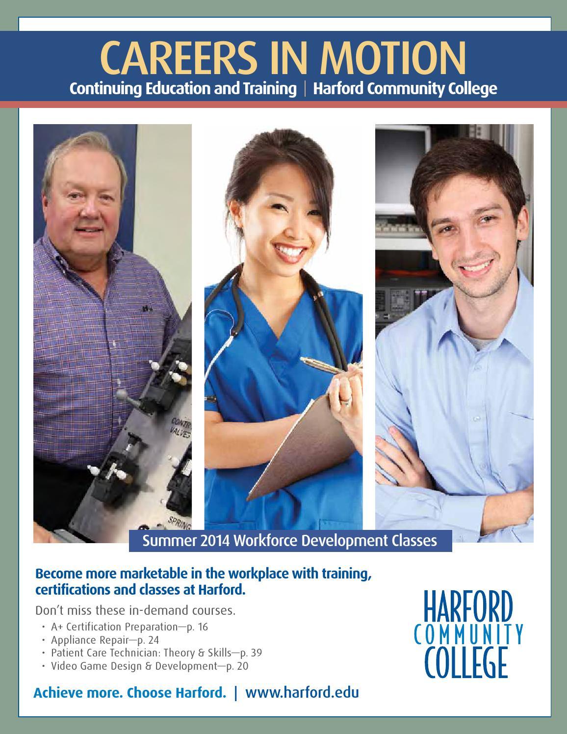 Workforce Development Schedule Summer 2014 By Harford Community