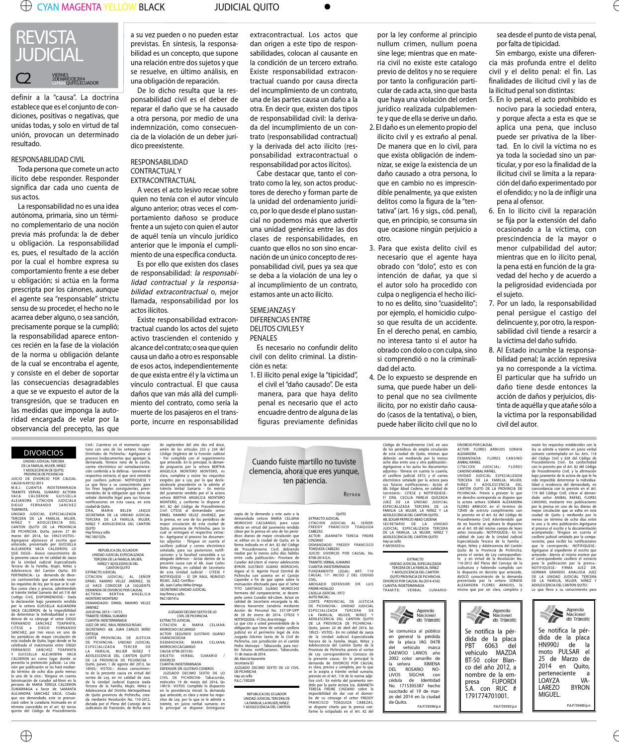 Revista judicial 2 de mayo 2014 by Diario La Hora Ecuador - issuu