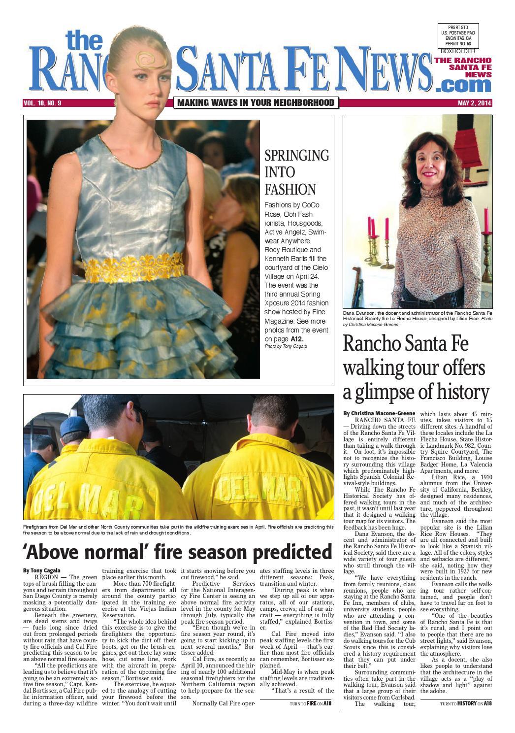 Rancho santa fe news 2014 05 02 by Coast News Group - issuu