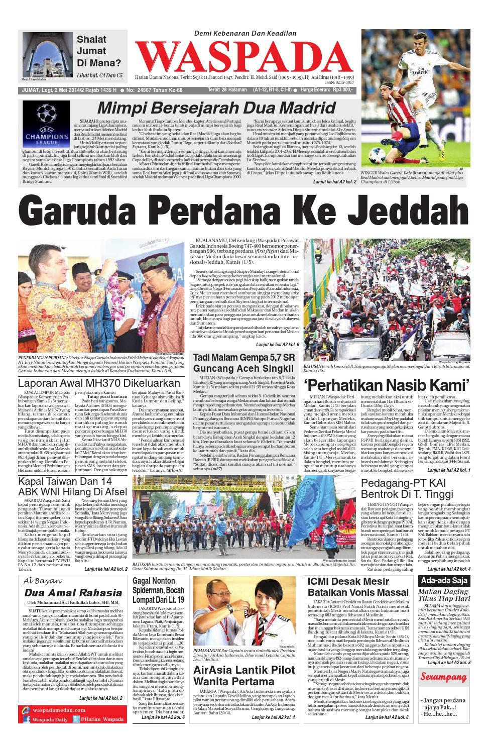 Waspada Jumat 2 Mei 2014 By Harian Issuu Charger Warna Warni Merk Hasan Sj0048