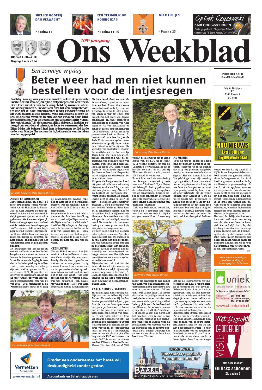62cf2239d86 Ons Weekblad 02-05-2014 by Uitgeverij Em de Jong - issuu