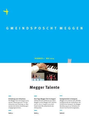 Gmeindsposcht Meggen 2/2014 by Gemeinde Meggen - issuu