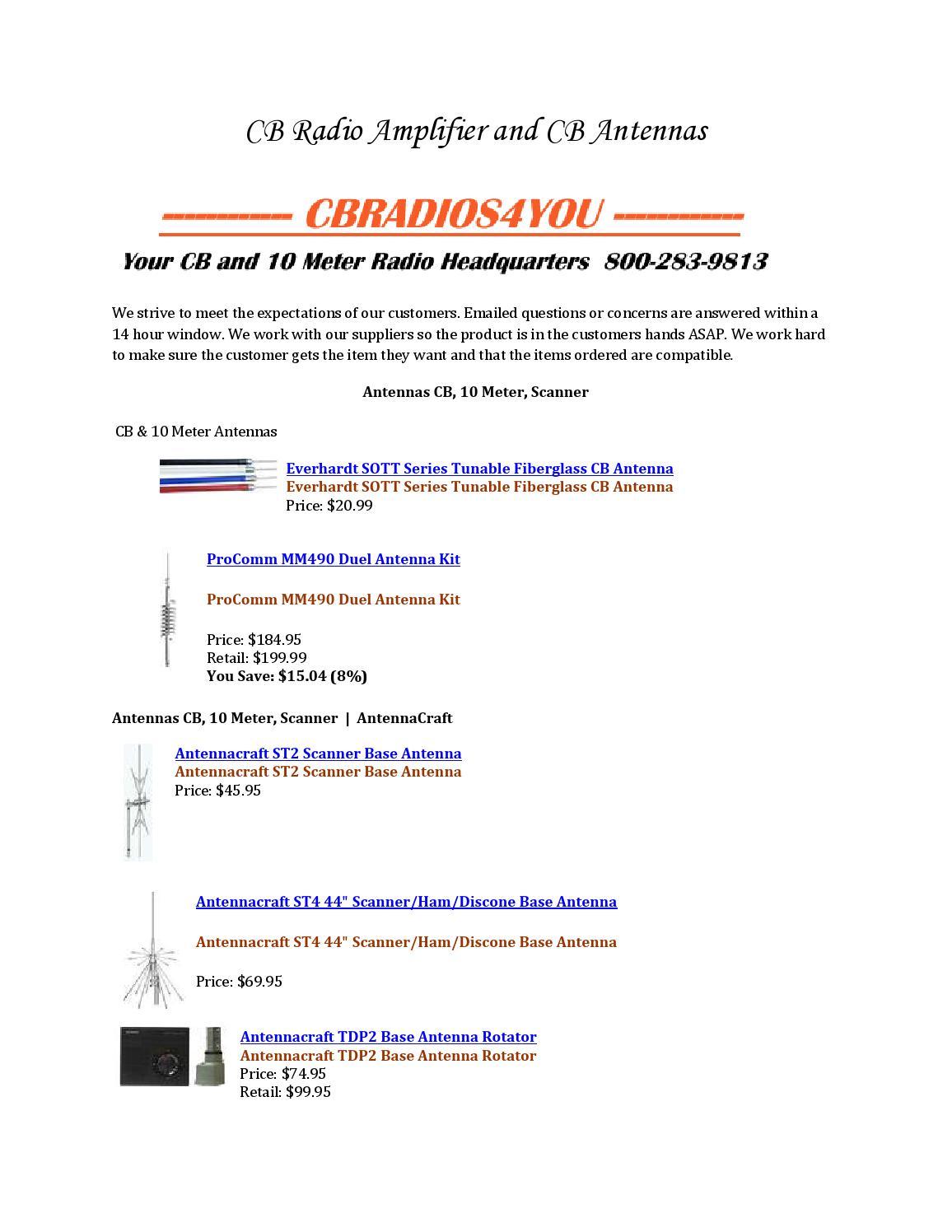 Cb radio amplifier and cb antennas by cbradios4you - issuu